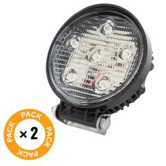 Pack 2 Projecteur LED 18W 9-33VDC IP68 Voitures / Bateaux Blanc Froid  - Couleur Blanc froid
