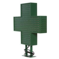 Croix De Pharmacie LED 500x500mmVert IP65 Télécommande