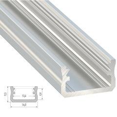 Profil AluminiumType A -Brut -2,02M  - Finition Inox Anodisé