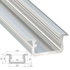 Profil AluminiumType B-Brut-2,02M  - Finition Inox Anodisé