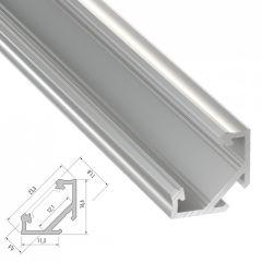 Profil AluminiumType C-Brut-2,02M  - Finition Laqué Blanc