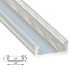 Profil AluminiumType D-Brut-2,02M  - Finition Argent Anodisé