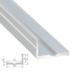 Profil AluminiumType E 2,02M  - Finition Argent Anodisé