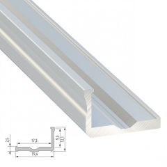 Profil AluminiumType F 2,02M  - Finition Laqué Blanc