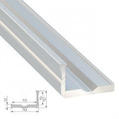 Profil AluminiumType F 2,02M  - Finition Argent Anodisé