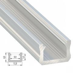 Profil AluminiumType X Brut 2,02M  - Finition Inox Anodisé