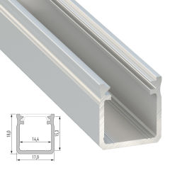 Profil AluminiumType Y 2,02M  - Finition Brut