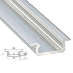 Profil AluminiumType Z-Brut-2,02M  - Finition Noir Anodisé