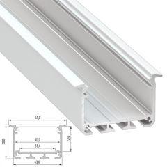 Profil AluminiumType INSO 2,02M  - Finition Argent Anodisé