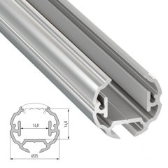Profil AluminiumType COSMO 2,02M  - Finition Brut