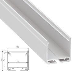 Profil Aluminium DILEDA-AnodiséArgent-2,02M  - Finition Argent Anodisé