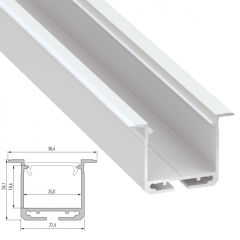 Profil AluminiumType inDILEDA 2,02M  - Finition Argent Anodisé