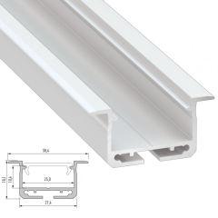Profil AluminiumType inSILEDA 2,02M  - Finition Argent Anodisé