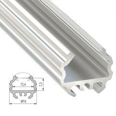 Profil AluminiumType MICO 2,02M  - Finition Noir Anodisé