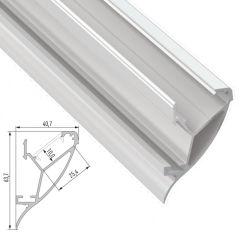 Profil Aluminium  CONVA 2,02M  - Finition Laqué Blanc