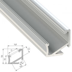 Profil AluminiumType H 2,02M  - Finition Inox Anodisé
