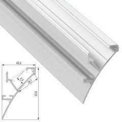 Profil Aluminium  LOGI 2,02M  - Finition Laqué Blanc