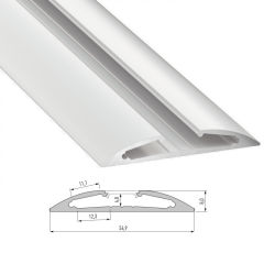 Profil AluminiumType RETO 2,02M  - Finition Laqué Blanc