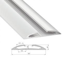 Profil AluminiumType RETO 2,02M  - Finition Noir Anodisé