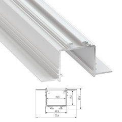 Profil Aluminium  SUBLI 2,02M  - Finition Laqué Blanc