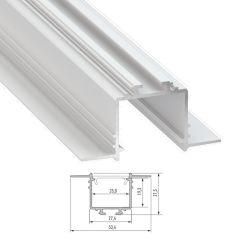 Profil Aluminium  SUBLI 2,02M  - Finition Argent Anodisé