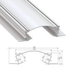 Profil Aluminium  VEDA 2,02M  - Finition Argent Anodisé