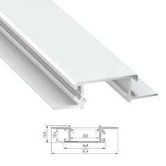 Profil Aluminium  ZATI 2,02M  - Finition Laqué Blanc