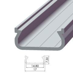 Profil AluminiumType ECO P01 1,00M  - Finition Noir Anodisé