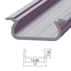 Profil AluminiumType ECO P02 1,00M  - Finition Brut