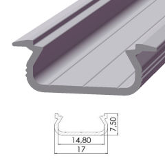 Profil AluminiumType ECO P02 2,02M  - Finition Brut