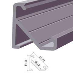 Profil AluminiumType ECO P03 1,00M  - Finition Brut