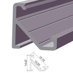 Profil AluminiumType ECO P03 1,00M  - Finition Argent Anodisé