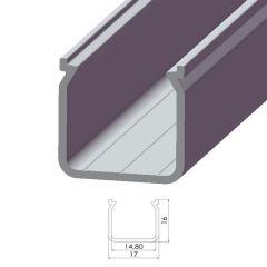 Profil AluminiumType ECO P04 2,02M  - Finition Brut