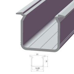 Profil AluminiumType ECO P05 1,00M  - Finition Noir Anodisé