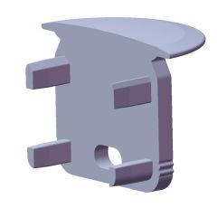 Embout ProfilType ECO P05  - Tapón Final Plastique -Gris - Avec Trou