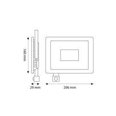 Projecteur Led  SMD Ajustable 30W 2400Lm IP66 50000H [LM-6004-CW]  - Couleur Blanc froid