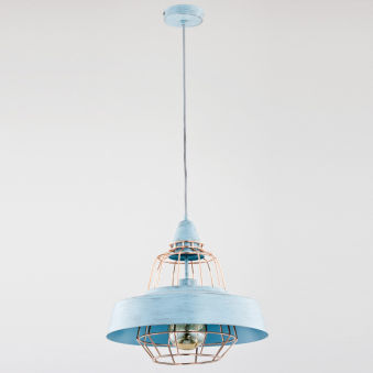 "Lampe À Suspension ""Tamaris"" [ALF-60378]  - Finition Bleu"