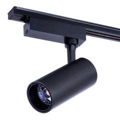Rail d'éclairage LED Monophasé Noir 30W 3000Lm 30.000H Lumiastra  - Couleur Blanc Neutre