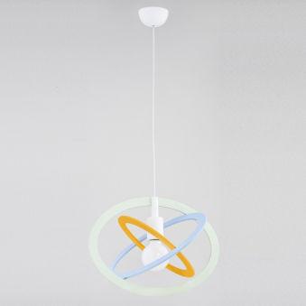 "Lampe À Suspension ""Gradi Elipse"" [ALF-60685]  - Finition Bleu"