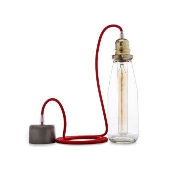 Kit Pendel Milk Soutien De LampeOr (Ampoule Incluse)  - Couleur Blanc chaud