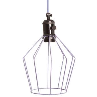 Lampe Suspendue LavandeArgentFoncé Soutien De Lampe E27Câble 5M Commutateur Rotatif Callie