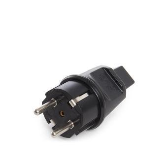 Plug SchukoNoir IP44CâblePlat