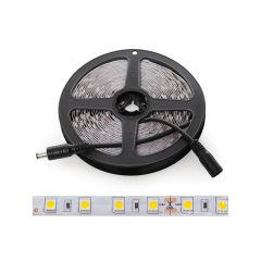 Bande de  Led  300 LEDs 60W SMD5050 24VDC IP25 x 5M  - Couleur Blanc Neutre