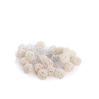 Guirlande De Fée LED 20 Lumières LED 4 M IP25 Manette Blanc Chaud  - Couleur Blanc chaud