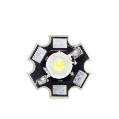 LED Haute Puissance 35X35 con Dissipateur De Chaleur 1W 120Lm 50.000H  - Couleur Blanc chaud
