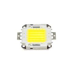 Pack 4 LEDs Haute Puissance COB30 50W 5000Lm 50.000H  - Couleur Blanc froid