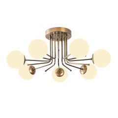 """Lampe Suspendue """"Daisy""""Or/Blanc Neutre 7 x E 27 Sans Ampoule [OPV-521SHN3373]"""