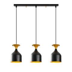 """Lampe Suspendue """"Sivani""""Noir/Or 3 x E 27 Sans Ampoule [OPV-527ABY1820]"""