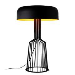 """Lampe DeTable """"Fellini""""Noir/Or 2 x E 27 Sans Ampoule [OPV-527ABY2179]"""