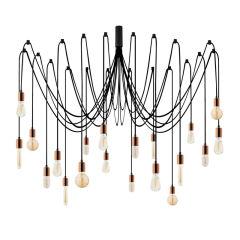 """Lampe Suspendue """"Kabluni - MR - 920"""" Cuivre 20xE27 Sans Ampoule [OPV-536NTD1121]"""